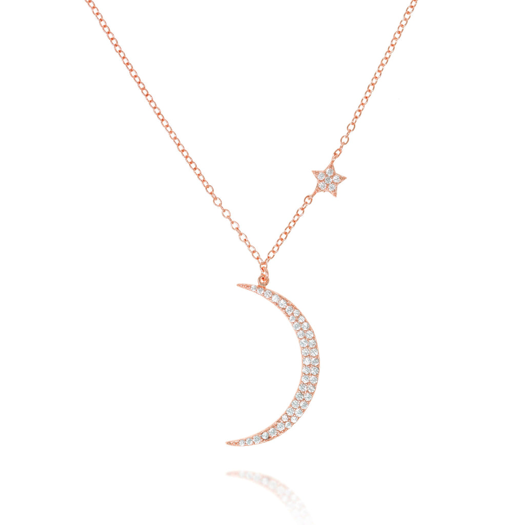 NK-78/R - Chain and Moon Pendant with small Star