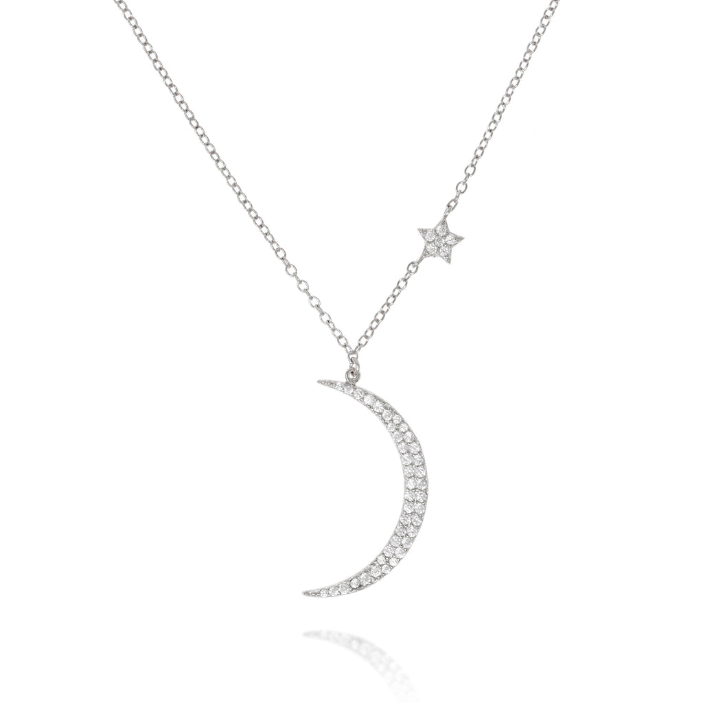 NK-78/S - Chain and Moon Pendant with small Star