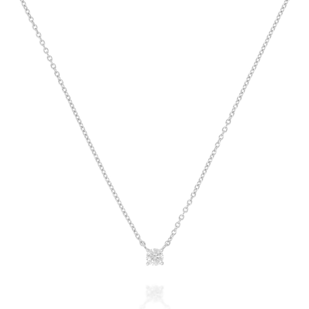 NK-79/S - Chain and Single Cubic Zirconia Necklace