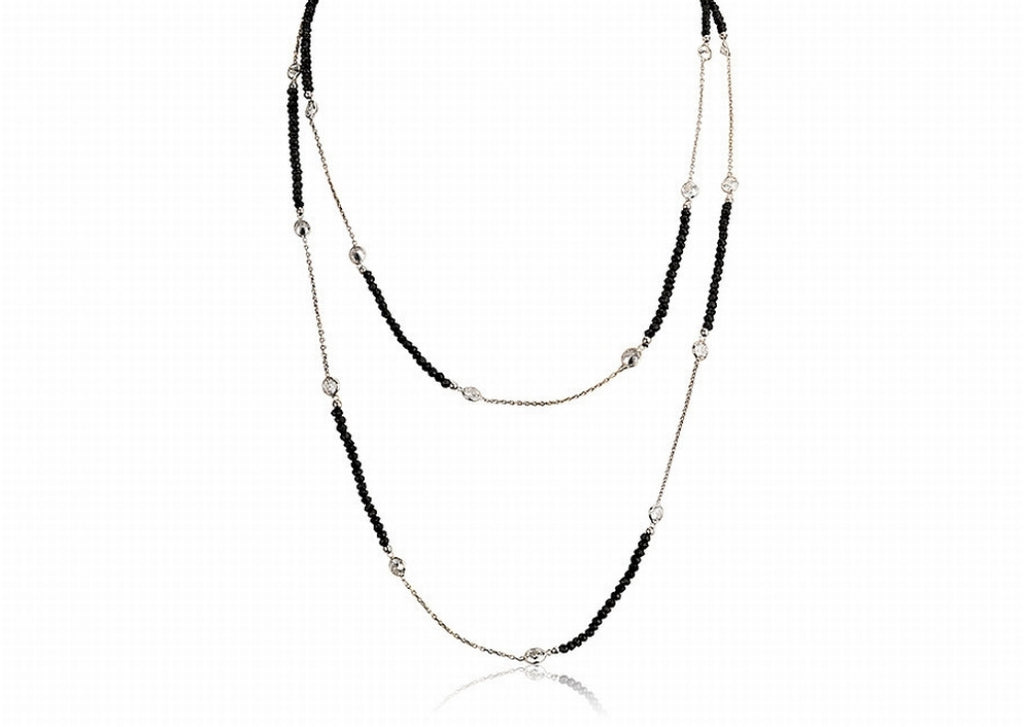 NS-4003/S - Onyx and chain necklace