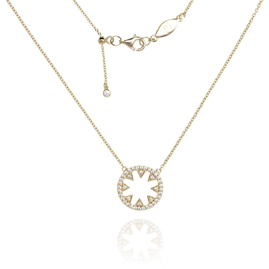 NT-10/G - Chain and Star Pendant Necklace