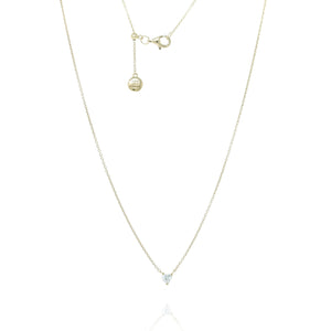 NT-12/G - Chain Necklace with Very Small CZ Pendant