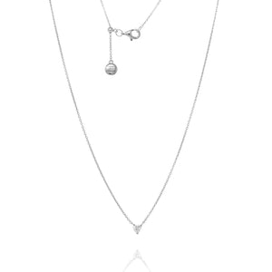 NT-12/S - Chain Necklace with Very Small CZ Pendant