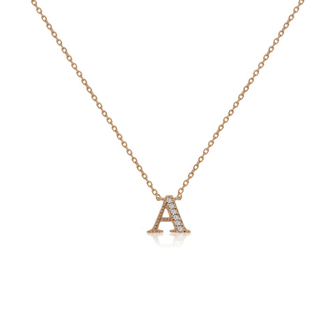 "NT-26/A/R - Initial ""A"" Necklace with sliding size adjuster (NEW)"