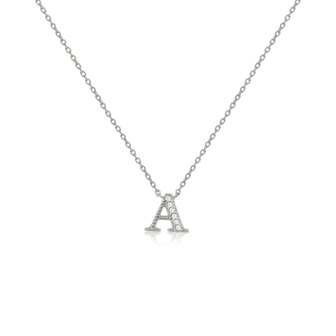 "NT-26/A/S - Initial ""A"" Necklace with sliding size adjuster (NEW)"