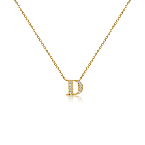 "NT-26/D/G - Initial ""D"" Necklace with sliding size adjuster (NEW)"