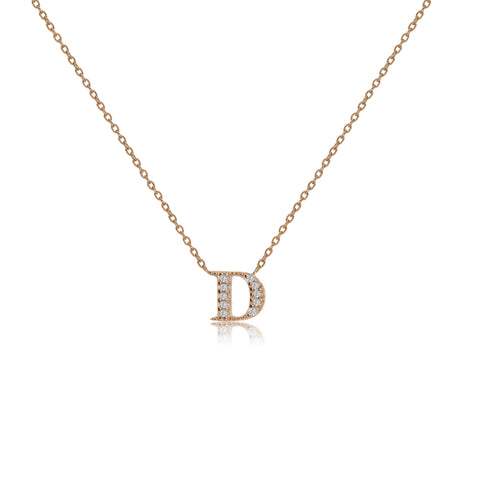 "NT-26/D/R - Initial ""D"" Necklace with sliding size adjuster (NEW)"