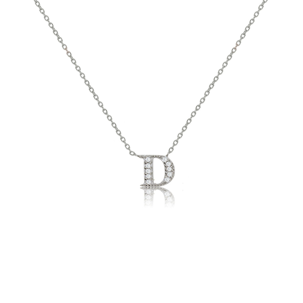 "NT-26/S/D - Initial ""D"" Necklace with Sliding Length Adjuster"