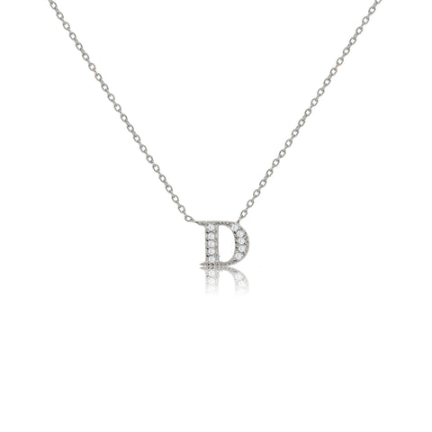"NT-26/D/S - Initial ""D"" Necklace with sliding size adjuster (NEW)"