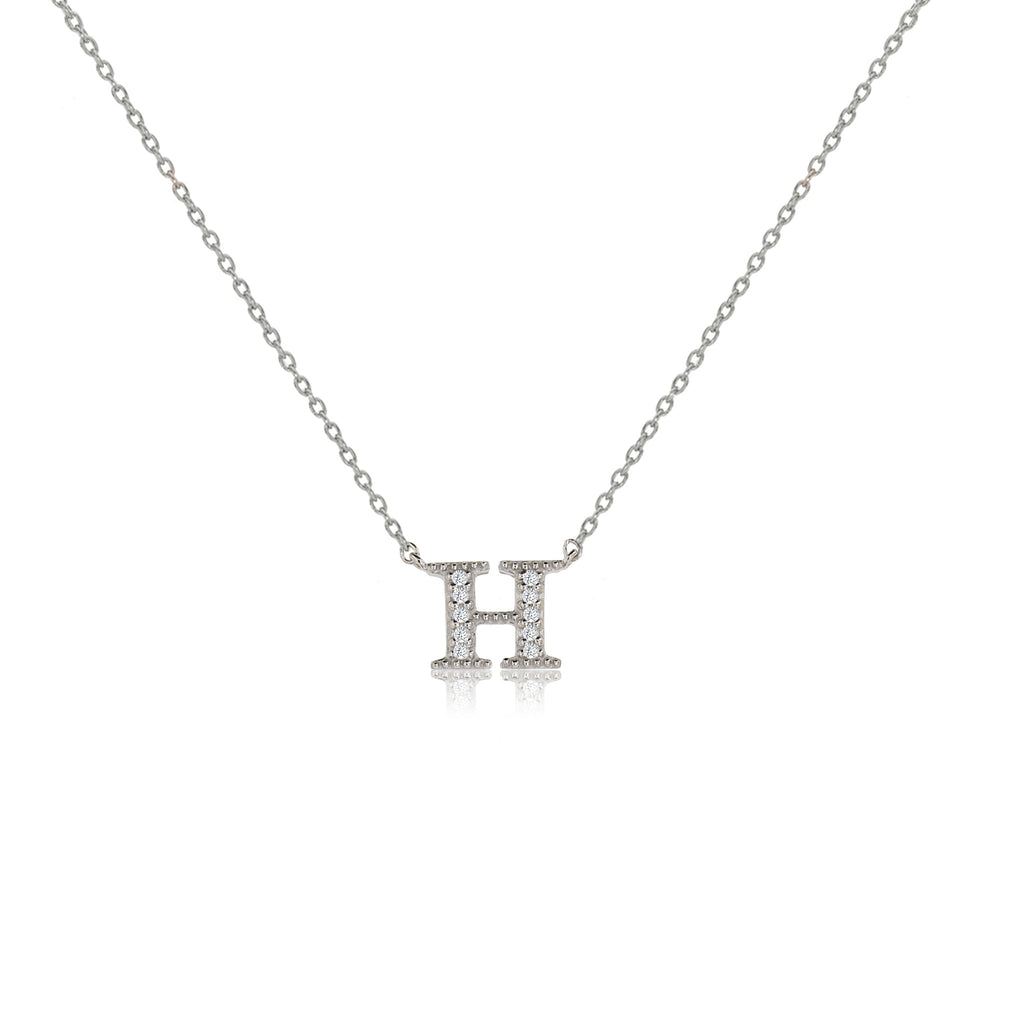 "NT-26/H/S - Initial ""H"" Necklace with sliding size adjuster (NEW)"