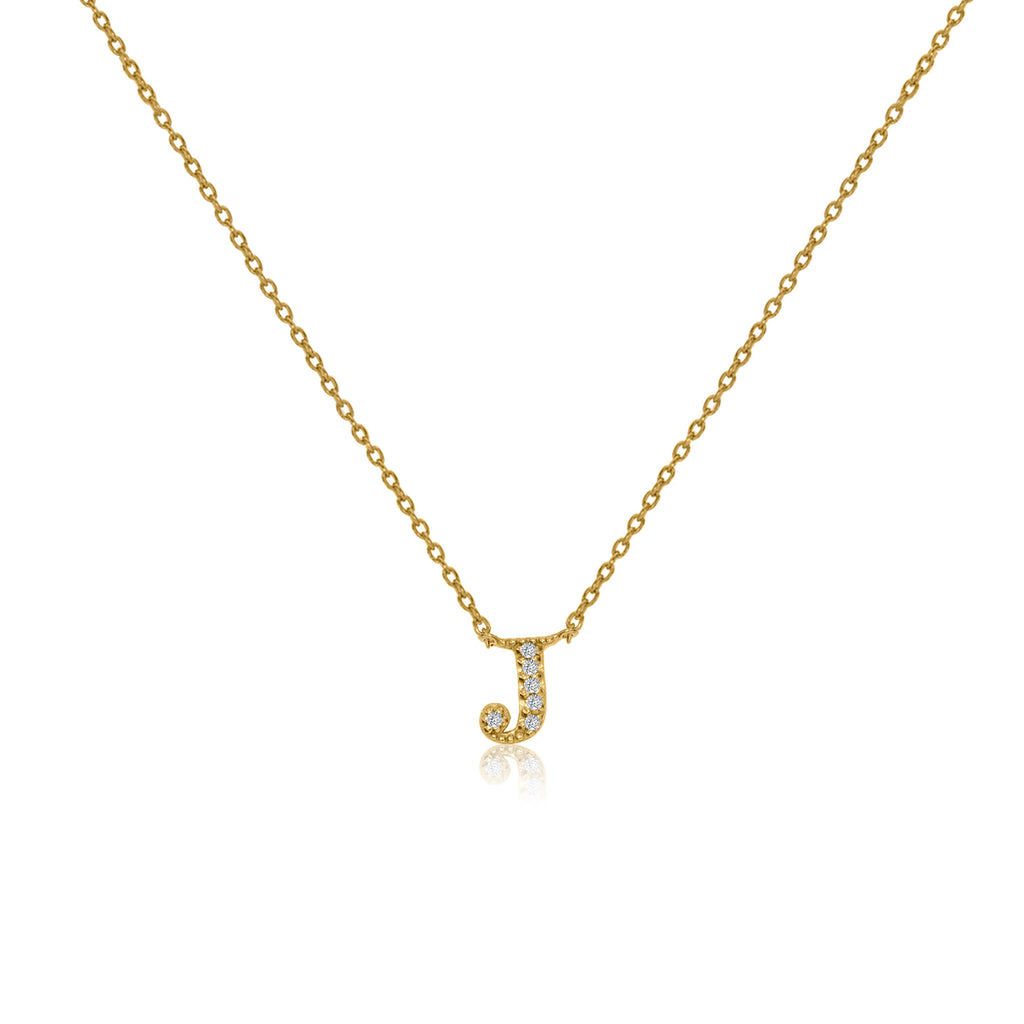 "NT-26/J/G -  Initial ""J"" Necklace with sliding size adjuster (NEW)"