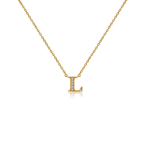 "NT-26/L/G -  Initial ""L"" Necklace with sliding size adjuster (NEW)"