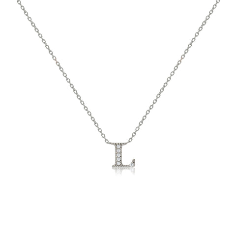 "NT-26/L/S - Initial ""L"" Necklace with sliding size adjuster (NEW)"