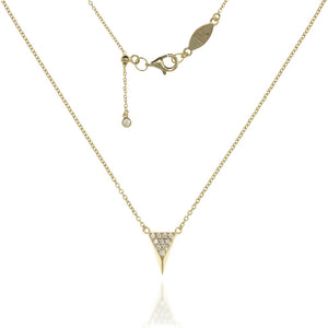 NT-5/G -  Chain and 3D Triangle Pendant with CZ