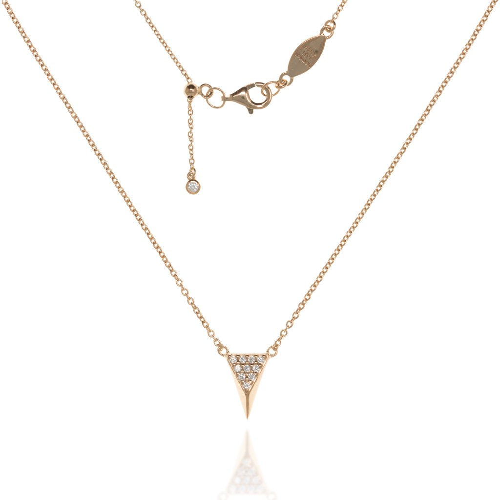 NT-5/R - Chain and 3D Triangle Pendant with CZ