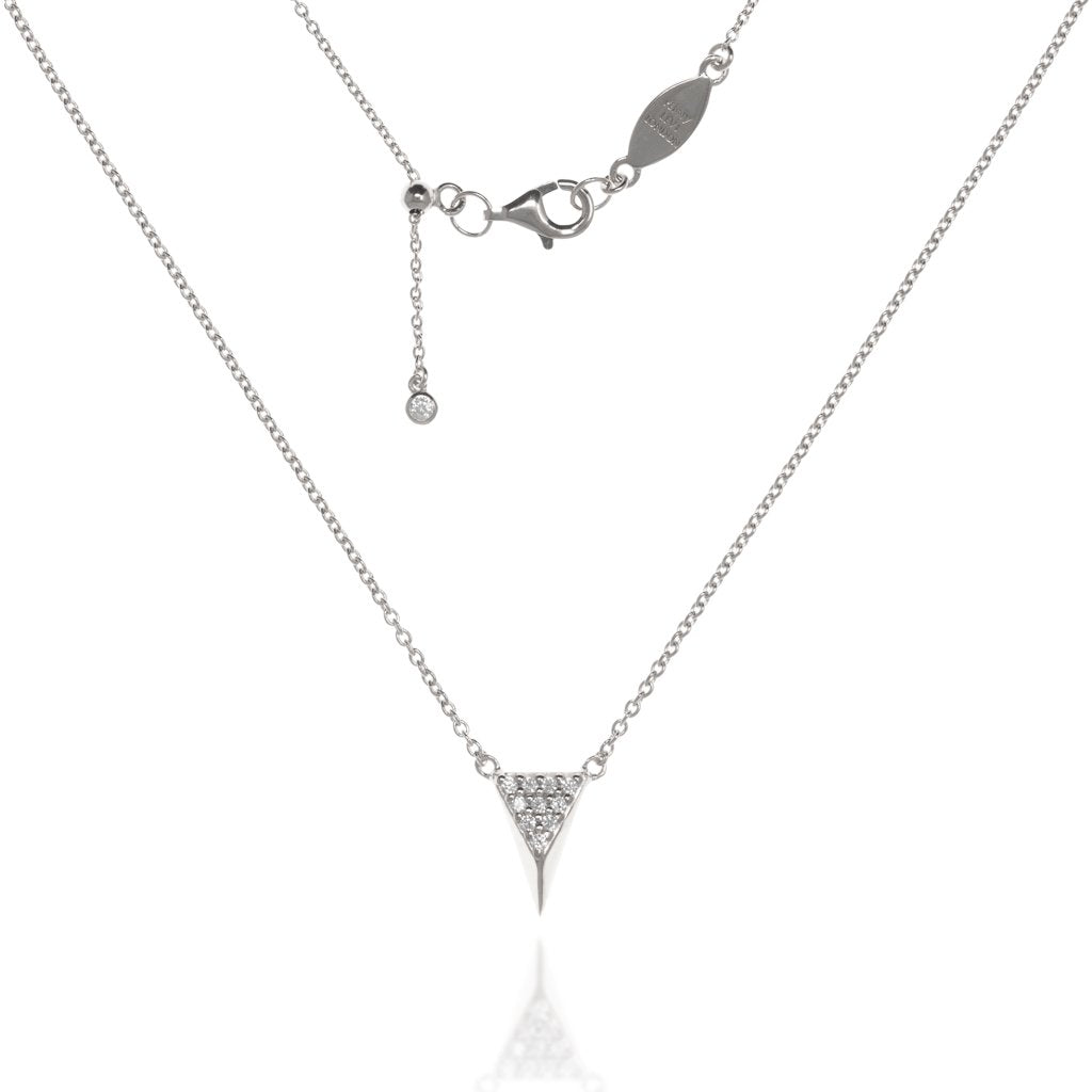 NT-5/S - Chain and 3D Triangle Pendant with CZ