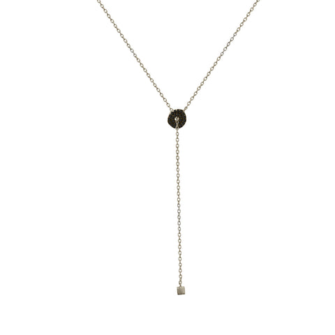 NT-2/S/BL - Lariot necklace with Cubic Zirconia (NEW)