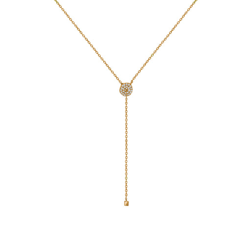 NT-2/G - Lariot necklace with Cubic Zirconia (NEW)