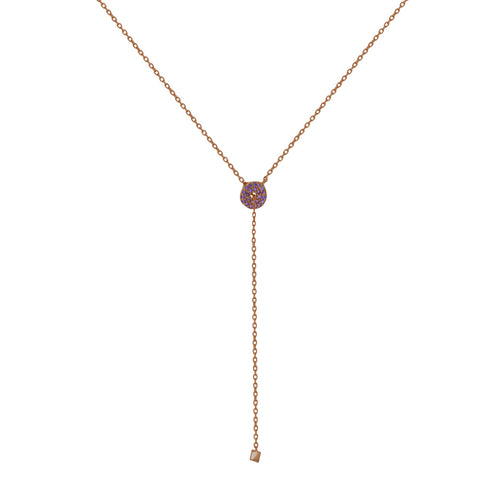 NT-2/R/P - Lariot necklace with Amethyst. (NEW)
