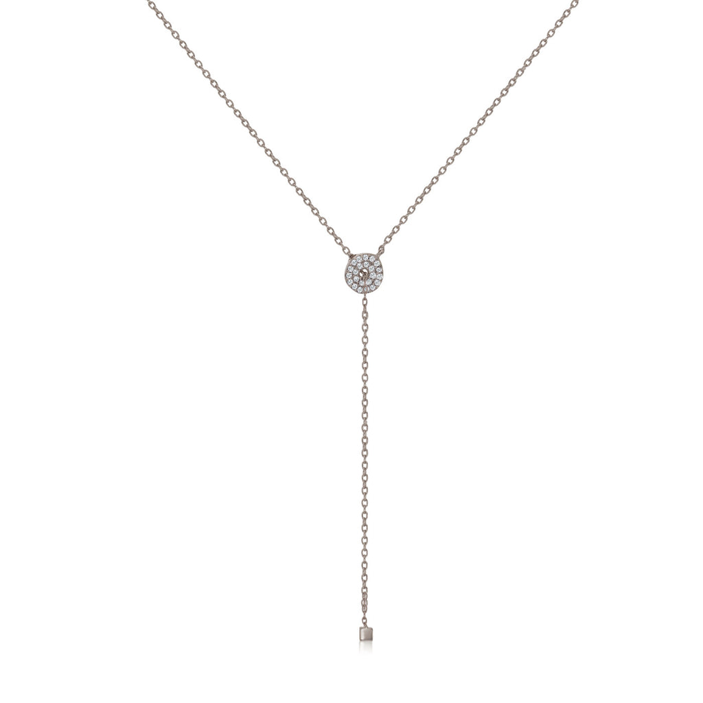 NT-2/S -  Lariat Necklace with Cubic Zirconia