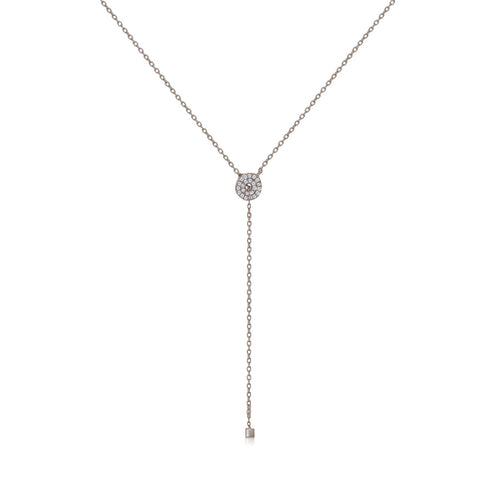 NT-2/S -  Lariot necklace with Cubic Zirconia (NEW)