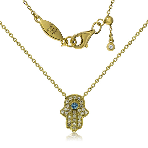 NT-201/G - Hamsa (hand) and chain necklace. Adjustable length. (NEW)