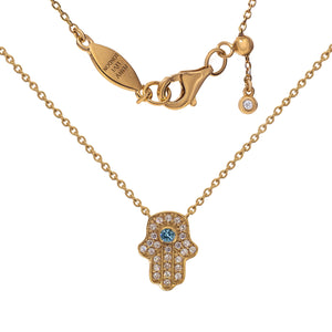 NT-201/R - Hamsa (hand) and Chain Necklace. Adjustable Length