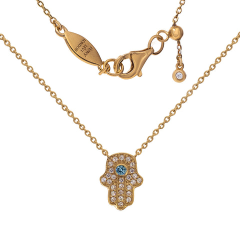 NT-201/R - Hamsa (hand) and chain necklace. Adjustable length. (NEW)