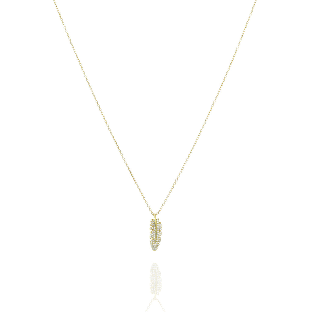 NN-1/G  - Chain Necklace with Leaf Pendant