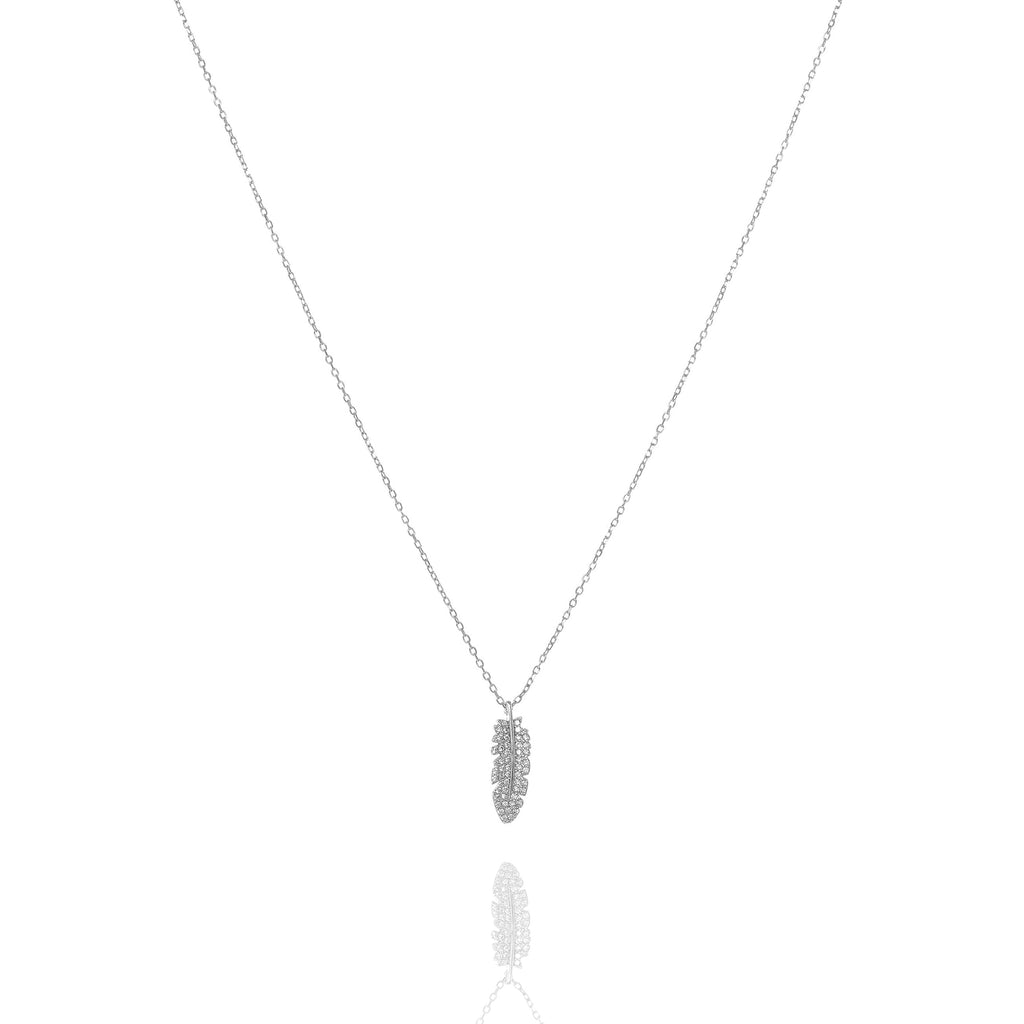 NN-1/S - Chain Necklace with Leaf Pendant