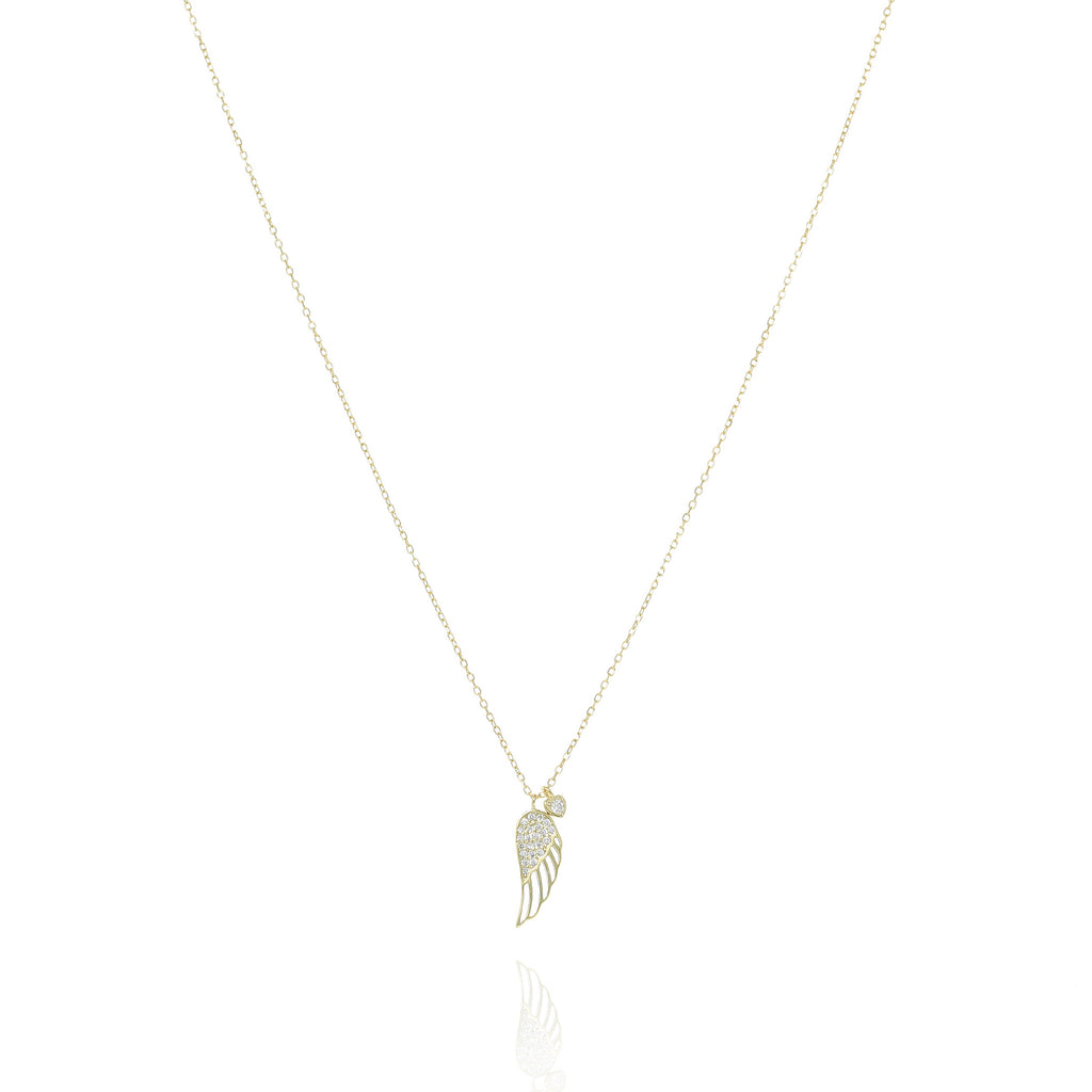 NN-2/G - Chain  Necklace with Wing Pendant