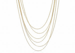 NX-24/G - Multi Strand Necklace