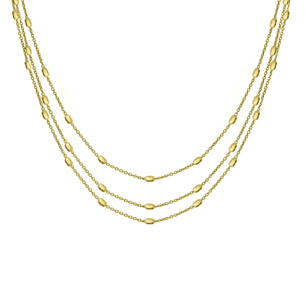 NX-81/G - Long three strand necklace. (NEW)