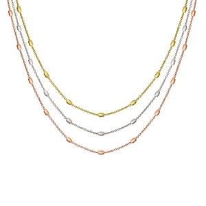 NX-81/MULTI - Long Three Strand Necklace