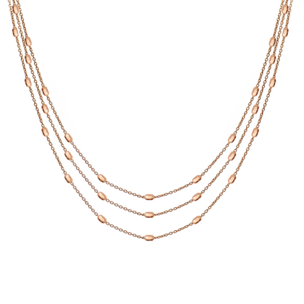 NX-81/R - Long three Strand Necklace (NEW)