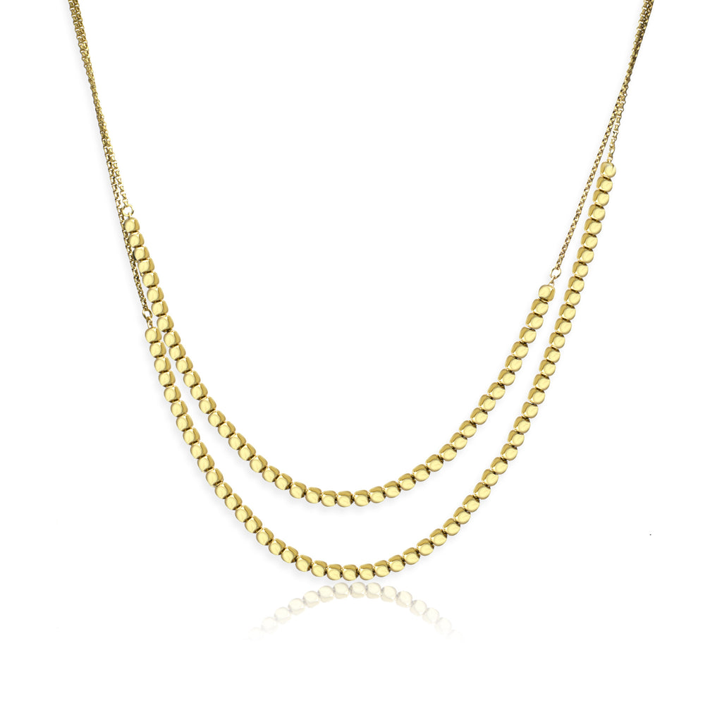 NXA-90/G - Short chain and cube necklace