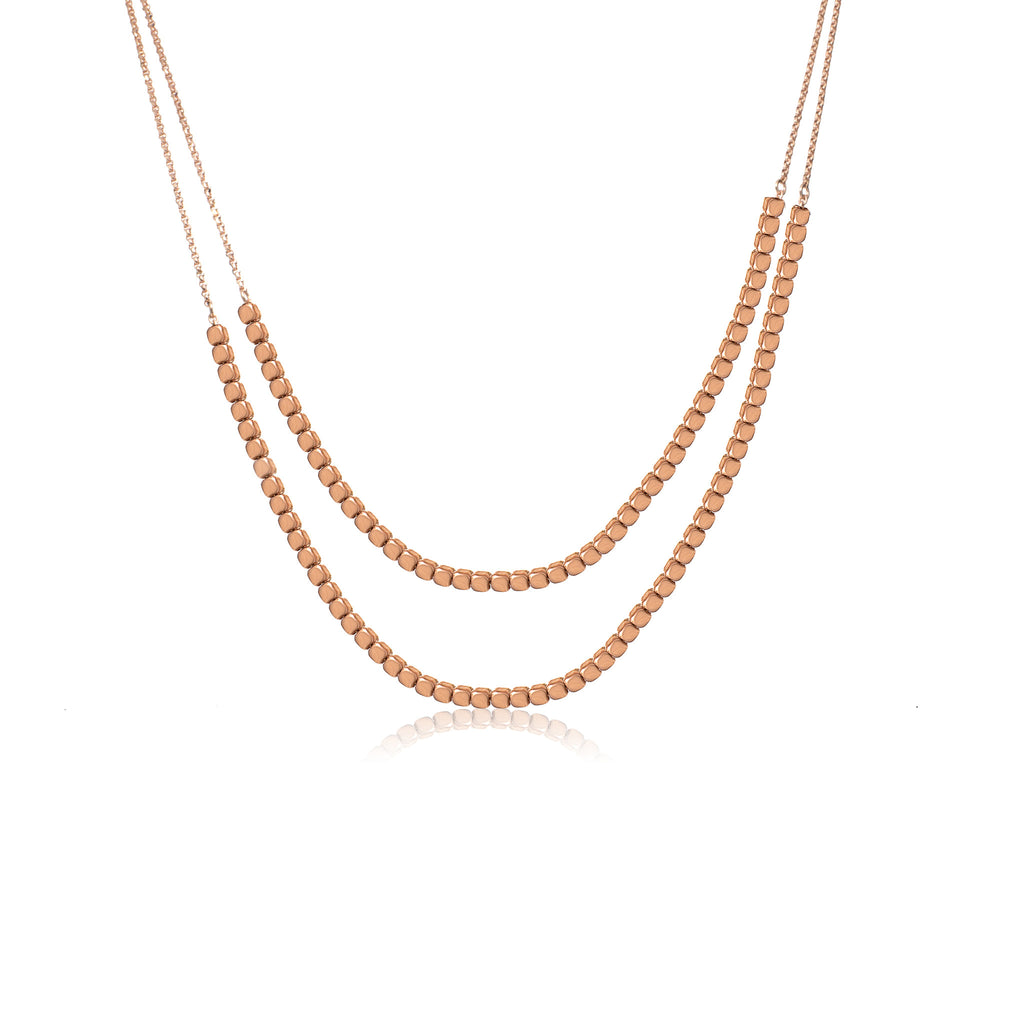 NXA-90/R - Two strand short necklace. (NEW)