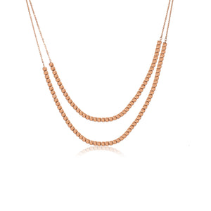 NXA-90/R - Two Strand Short Necklace
