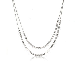 NXA-90/S - Short Two Strand Necklace