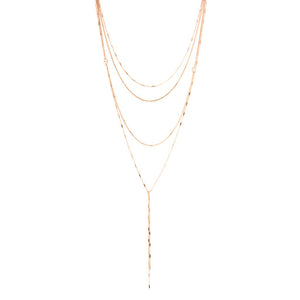 NXA-97/R - Delicate 4 Strand Necklace with Variable Detail