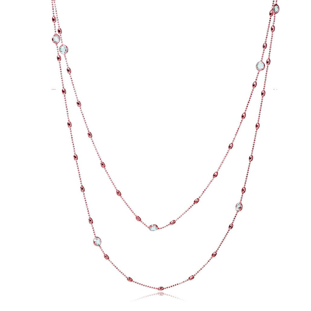NZ-350/R - Rose Gold Chain with CZ Decoration