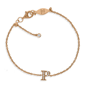 "BT-26/R/P - Initial ""P"" Bracelet Adjustable Size"