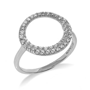 RT-25/S - Open Circle Ring with Double Row of Small CZ
