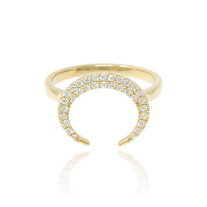 RT-17/G - Crescent Pave Ring