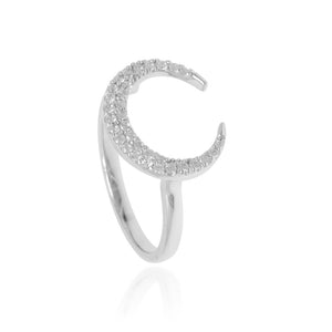 RT-17/S - Pave Crescent Ring