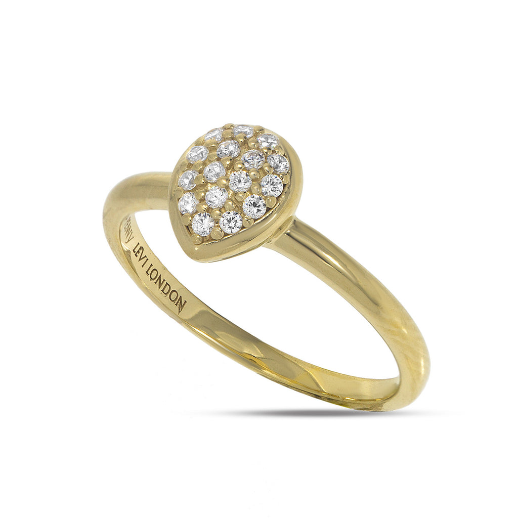 RT-18/G - Pave dome heart shaped ring.(NEW)