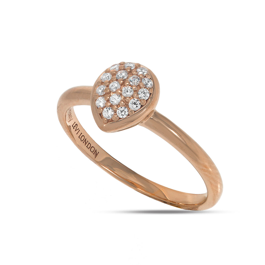 RT-18/R - Pave dome heart shaped ring.(NEW)