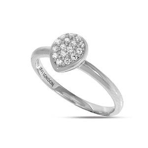 RT-18/S - Pave Dome Heart Shaped Ring