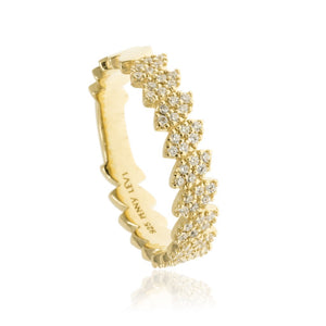 RT-19/G - Pave Leaf Ring