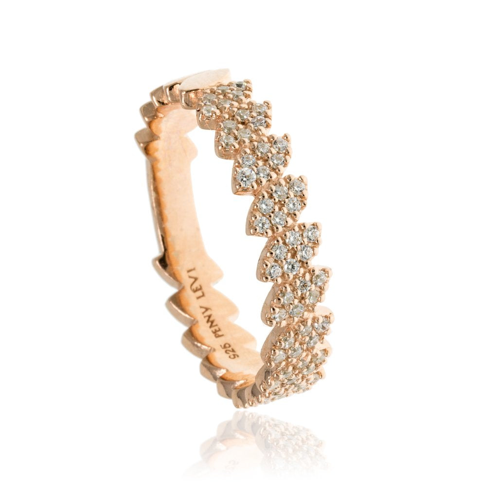 RT-19/R - Pave Leaf Ring